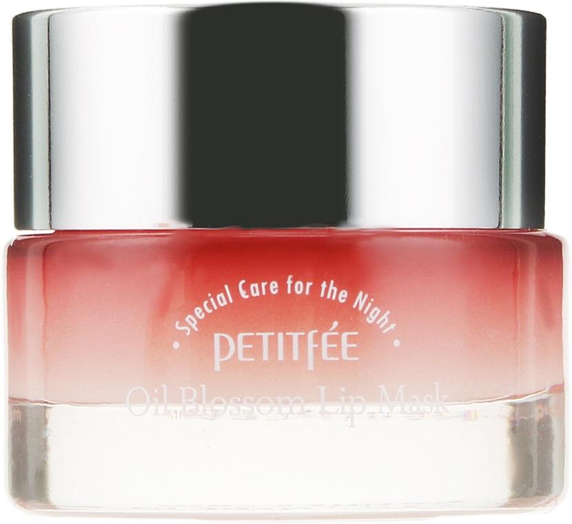 Mască cu ulei de camelie și vitamina E de noapte pentru buze - Petitfee&Koelf Oil Blossom Lip Mask