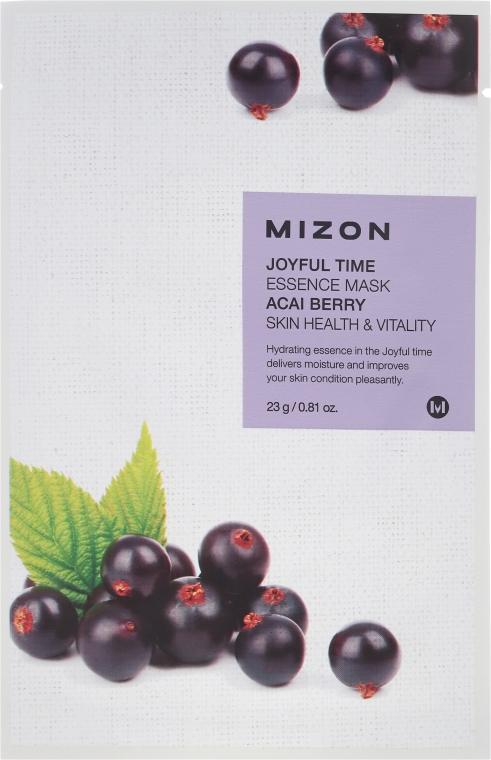 Тканевая маска с экстрактом ягоды Асаи - Mizon Joyful Time Essence Mask Acai Berry — фото N1