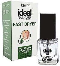 Parfumuri și produse cosmetice Uscător pentru ojă - Ingrid Cosmetics Ideal+ Fast Dryer Top Coat