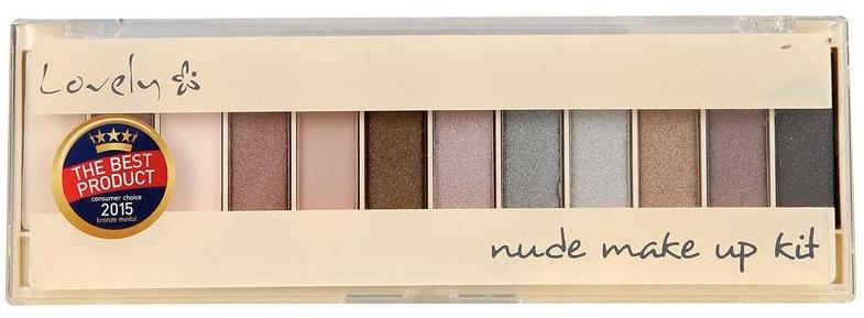 Paleta fard de pleoape - Lovely Nude Make Up Kit