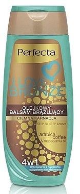 Balsam bronzant de corp, închis - Perfecta I Love Bronze Balm