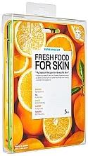 Parfumuri și produse cosmetice Set - Superfood For Skin Facial Sheet Mask Refreshing Set (f/mask/5x25ml)