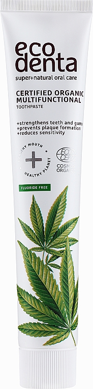 Pastă de dinți, cu ulei de cânepă - Ecodenta Certified Organic Multi-Functional Toothpaste