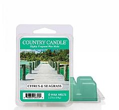 Parfumuri și produse cosmetice Ceară pentru lampă aromatică - Country Candle Citrus & Seagrass Wax Melts