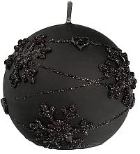 Parfumuri și produse cosmetice Lumânare decorativă, bilă neagră, 12 cm - Artman Snowflake Application