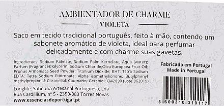 Pliculeț aromatic, flori roz - Essencias De Portugal Tradition Charm Air Freshener — Imagine N2