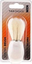 Parfumuri și produse cosmetice Pensulă pentru ras, alb 30338 - Top Choice