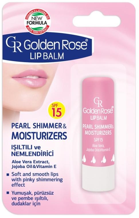 Бальзам для губ - Golden Rose Lip Balm Pearl Shimmer & Moisturizers SPF15 — фото N1