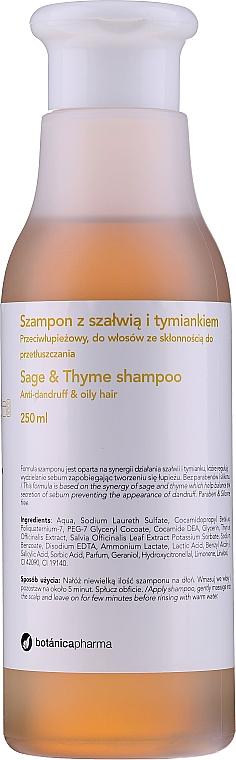 Șampon anti-mătreață pentru păr gras - Botanicapharma Sage & Thyme Shampoo