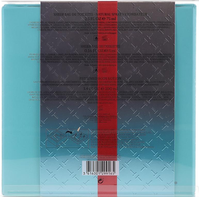Tiffany & Co Sheer - Set (edt/75ml + edt/5ml + b/lot/100ml) — Imagine N5