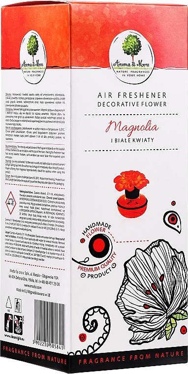 "Odorizant de aer, floare ""Magnolia și flori albe"" - Aroma & More Air Freshener"