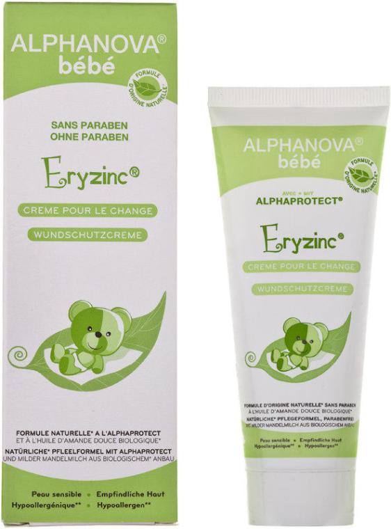Cremă sub scutec împotriva iritației - Alphanova Baby Natural Eryzinc Nappy Rash Cream — Imagine N1