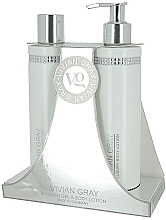 Parfumuri și produse cosmetice Set - Vivian Gray White Crystals Set (sh/gel/250ml + b/lot/250ml)