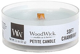 Parfumuri și produse cosmetice Lumânare aromată în suport de sticlă - Woodwick Petite Candle Soft Chambray