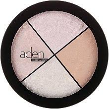 Parfumuri și produse cosmetice Iluminator pentru față - Aden Cosmetics Highlighter Palette