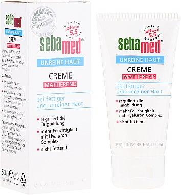 Cremă pentru ten acneic - Sebamed Clear Face Mattifying Cream