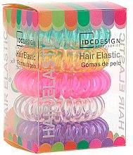 Parfumuri și produse cosmetice Set elastice din silicon pentru păr, 5 bucăți, multicolore - IDC Institute Design Hair Bands Pack