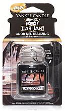 """Parfumuri și produse cosmetice Aromatizator gel """"Cocos negru"""" - Yankee Candle Black Coconut Car Jar Ultimate"""