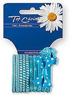 Parfumuri și produse cosmetice Elastice de păr 12 buc., 22067 - Top Choice