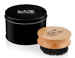 Parfumuri și produse cosmetice Perie din lemn pentru barbă, rotundă - Angry Beards Safe Brush