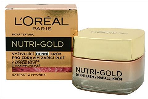 Cremă nutritivă de zi pentru față - L'Oreal Paris Nutri Gold Nourishing Daily Cream  — Imagine N1