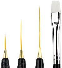 Parfumuri și produse cosmetice Set pensule 9619, 4 buc. - Donegal