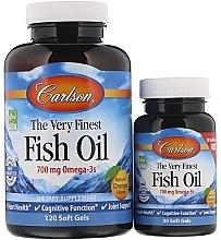 """Parfumuri și produse cosmetice Set """"Ulei de pește, miros de portocală"""" - Carlson Labs The Very Finest Fish Oil"""