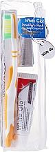 Parfumuri și produse cosmetice Set de călătorie pentru igiena orală, orange - White Glo Travel Pack (t/paste/24g + t/brush/1 + t/pick/8)