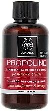 Parfumuri și produse cosmetice Șampon cu floarea soarelui și miere - Apivita Propoline Shampoo For Colored Hair