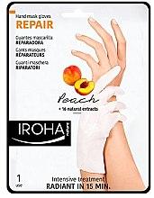 Parfumuri și produse cosmetice Masca pentru mâini - Iroha Nature Repair Peach Hand Mask Gloves