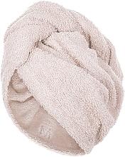 Духи, Парфюмерия, косметика Полотенце-тюрбан для сушки волос, бежевое - MakeUp