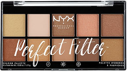 Paleta fard de ochi - NYX Professional Makeup Perfect Filter Shadow Palette