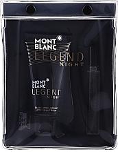 Parfumuri și produse cosmetice Montblanc Legend Night - Set (edp/7.5ml + ash/balm/50ml)