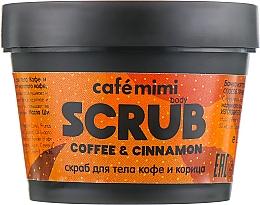 """Parfumuri și produse cosmetice Scrub pentru corp """"Cafea și scorțișoară"""" - Cafe Mimi Body Scrub Coffee & Cinnamon"""
