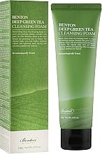 Parfumuri și produse cosmetice Spumă demachiantă cu extract de ceai verde - Benton Deep Green Tea Cleansing Foam