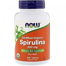 "Parfumuri și produse cosmetice Supliment natural ""Spirulină"" 500 mg - Now Foods Certified Organic Spirulina"