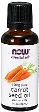 Parfumuri și produse cosmetice Ulei esențial de semințe de morcov - Now Foods Essential Oils 100% Pure Carrot Seed Oil