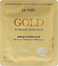 Parfumuri și produse cosmetice Mască Hydrogel cu complex de aur +5 - Petitfee&Koelf Gold Hydrogel Mask Pack +5 Golden Complex