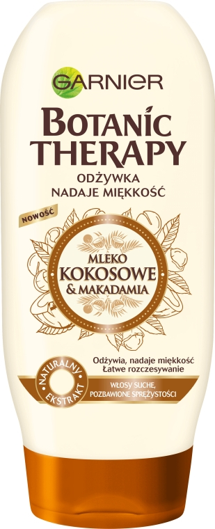 Balsam pentru părul deteriorat - Garnier Botanic Therapy Coconut Milk & Makadamia Conditioner