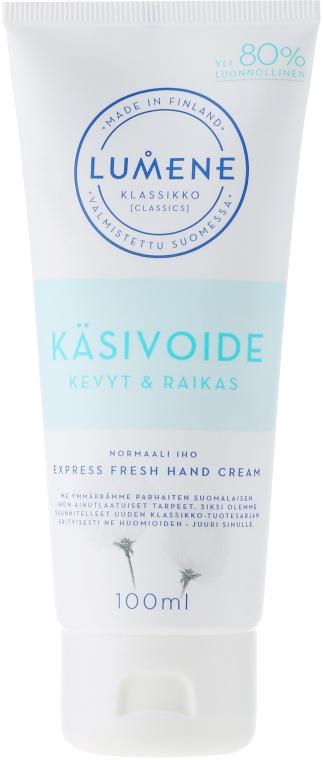 Cremă de mâini - Lumene Klassiko Express Fresh Hand Cream