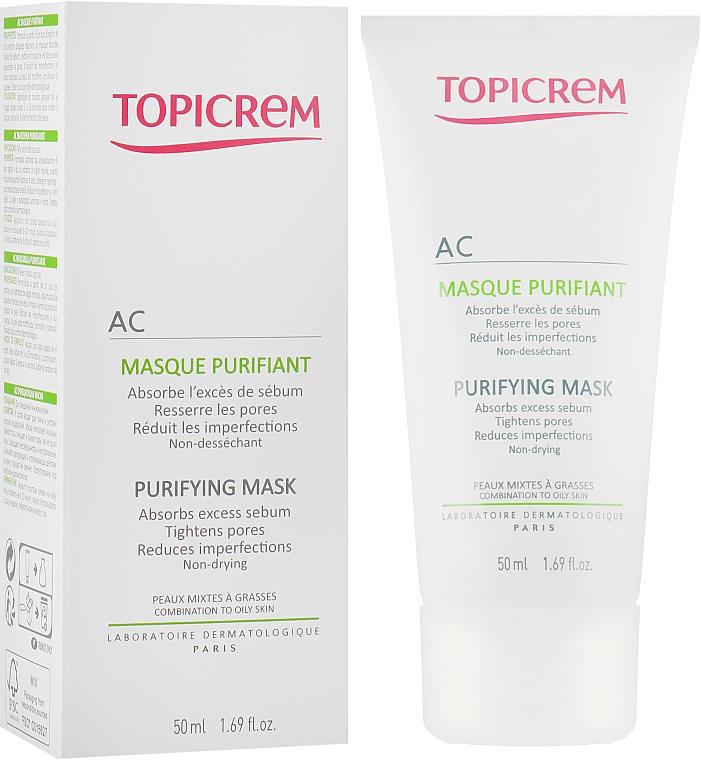 Очищающая маска для жирной и комбинированной кожи - Topicrem AC Purifying Mask — фото N1