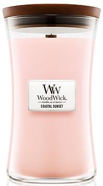 Lumânare parfumată în suport de sticlă - WoodWick Hourglass Candle Coastal Sunset — Imagine N3