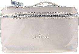 """Parfumuri și produse cosmetice Trusă cosmetică """"Leather"""", 24x14x13.5 cm, 96990, bej - Top Choice"""