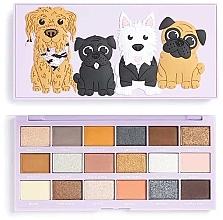 Parfumuri și produse cosmetice Paletă fard de ochi, 18 nuanțe - I Heart Revolution Revo-Pooches Eyeshadow Palette