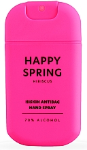 "Parfumuri și produse cosmetice Spray pentru dezinfectarea mâinilor ""Hibiscus"" - HiSkin Antibac Hand Spray Happy Spring"