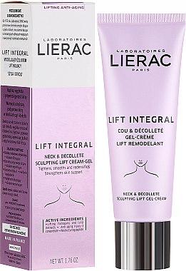 Cremă pentru gât și decolteu - Lierac Lift Integral Neck & Decollete Sculpting Lift Cream-Gel — Imagine N1