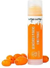 """Parfumuri și produse cosmetice Balsam cu ceară de albine și ulei de cătină pentru buze """"Bright Adventures"""" - Uoga Uoga Lip Balm Kind Pirate"""
