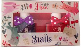 Parfumuri și produse cosmetice Set ojă de unghii pentru copii, 2x10,5ml - Snails Mini Bebe Be Free