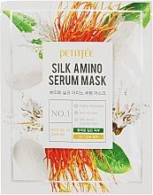 Parfumuri și produse cosmetice Mască pe bază de proteine de mătase pentru față - Petitfee&Koelf Silk Amino Serum Mask