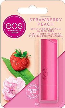 """Balsam cu ulei de bambus pentru buze """"Căpșune și piersică"""" - EOS Strawberry Peach Lip Balm"""